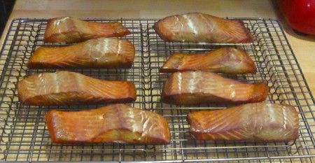 The final product - Smoked Salmon Fillets! Yum Yum these won't last...